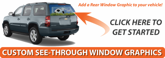 Rear Window Graphics Vinyl Racing Stripes BackGraphicscom - Car window clings custom
