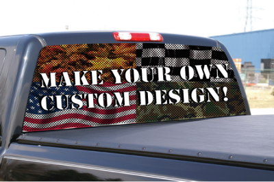 Custom Rear Window Graphic BackGraphicscom - Custom rear window decals for cars